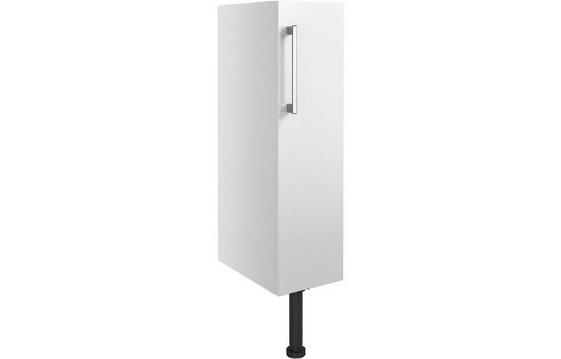 Alba 200mm Full Height Toilet Roll Holder - White Gloss