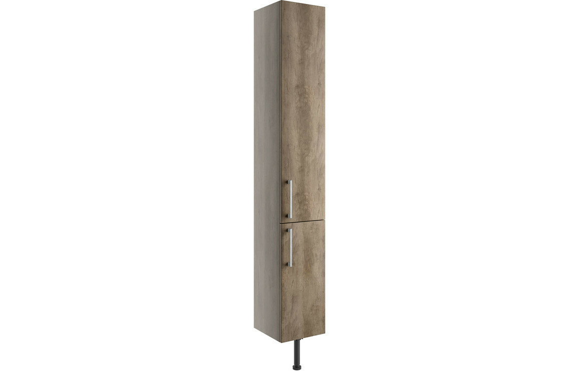 Alba 300mm 2 Door Tall Unit - Grey Nebraska Oak