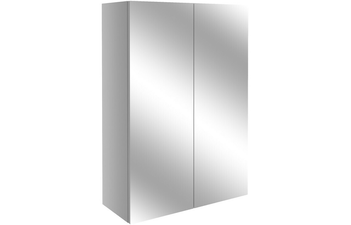 Alba 500mm Mirrored Unit - Light Grey Gloss