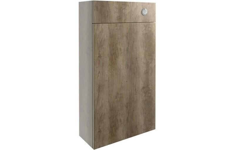Alba 500mm Slim WC Unit - Grey Nebraska Oak