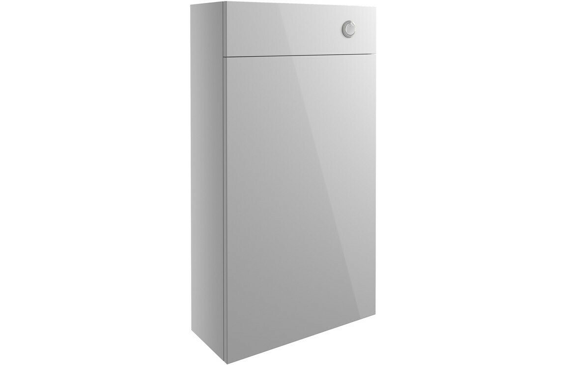 Alba 500mm Slim WC Unit - Light Grey Gloss