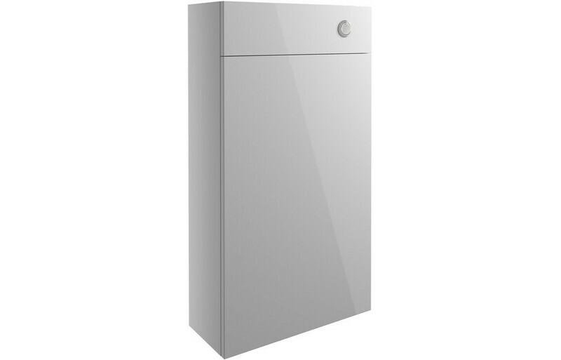 Alba 500mm Slim WC Unit - Light Grey Gloss