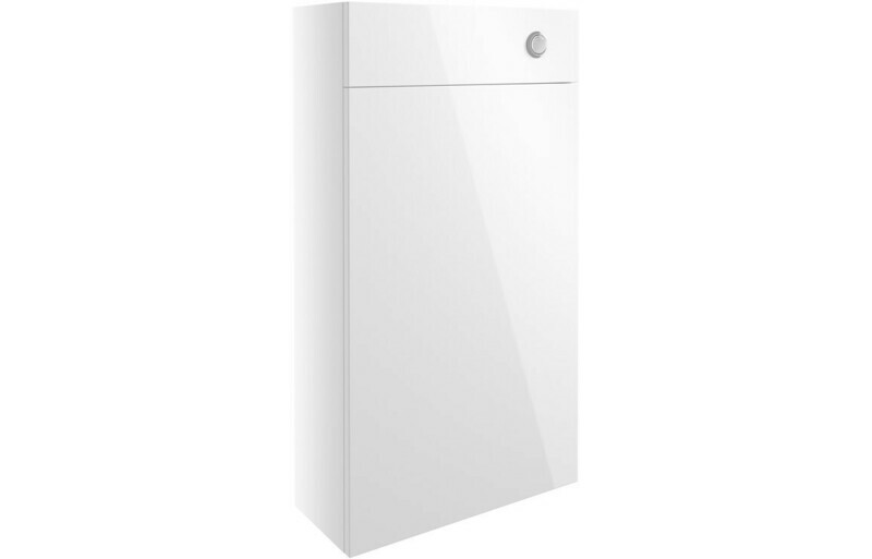 Alba 500mm Slim WC Unit - White Gloss