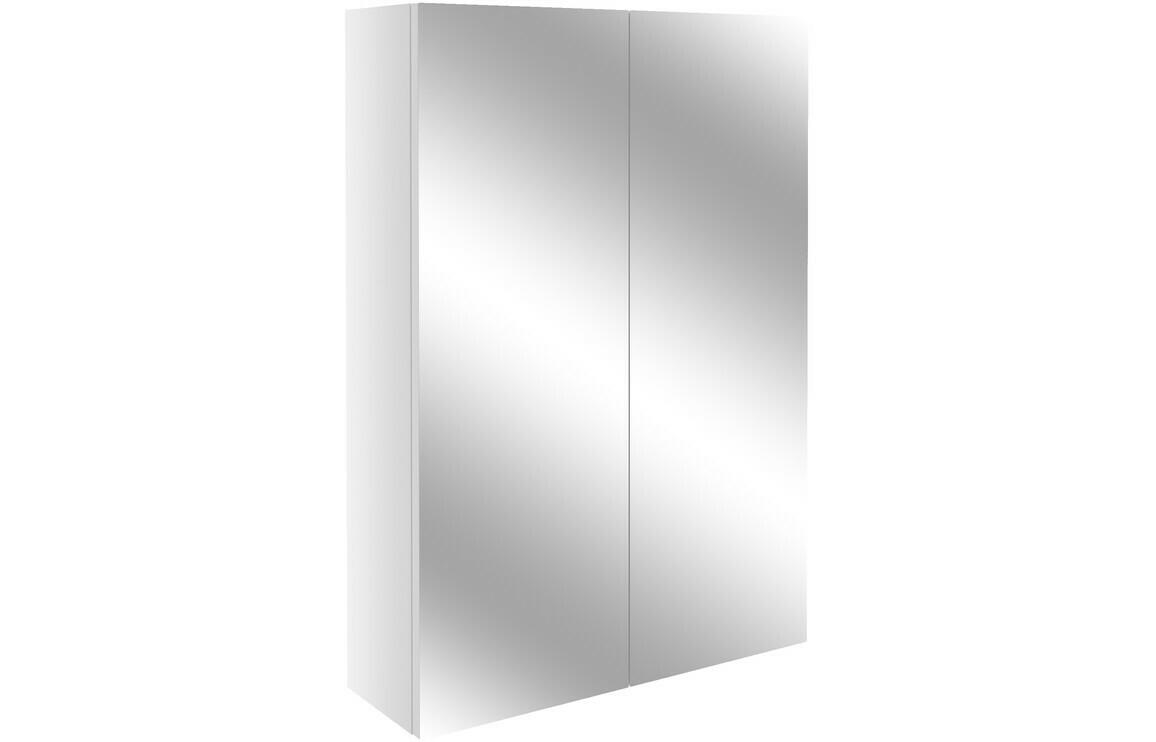Alba 500mm Slim Mirrored Unit - White Gloss