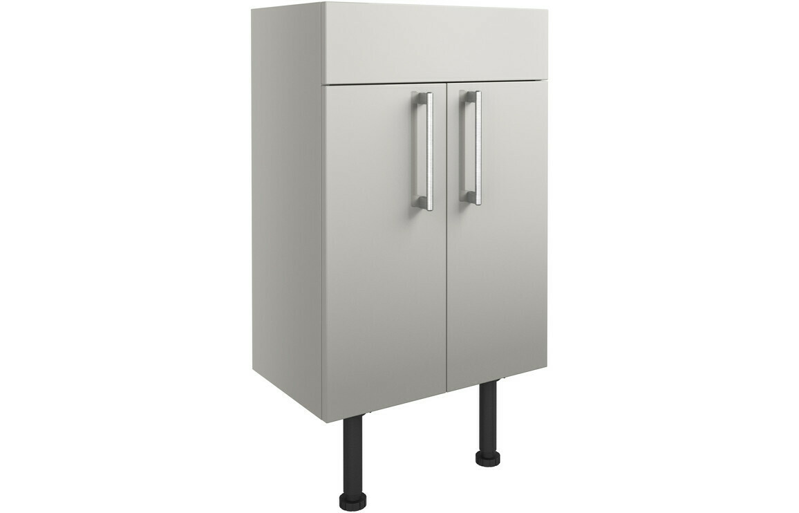Alba 500mm Vanity Unit - Light Grey Gloss
