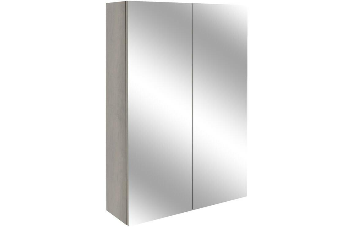 Alba 500mm Slim Mirrored Unit - Grey Nebraska Oak