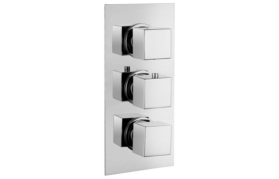 Kuba Thermostatic Triple Shower Valve - Three Outlet