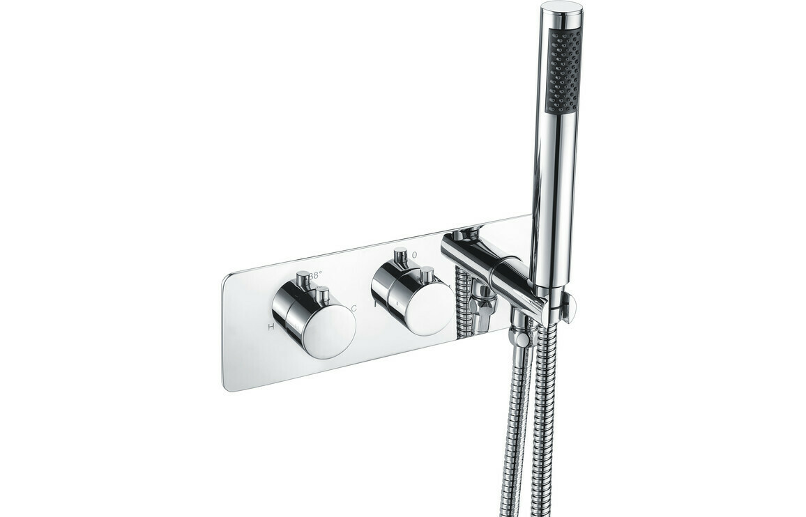 Lexi Thermostatic Shower Valve with Handset - Two Outlet