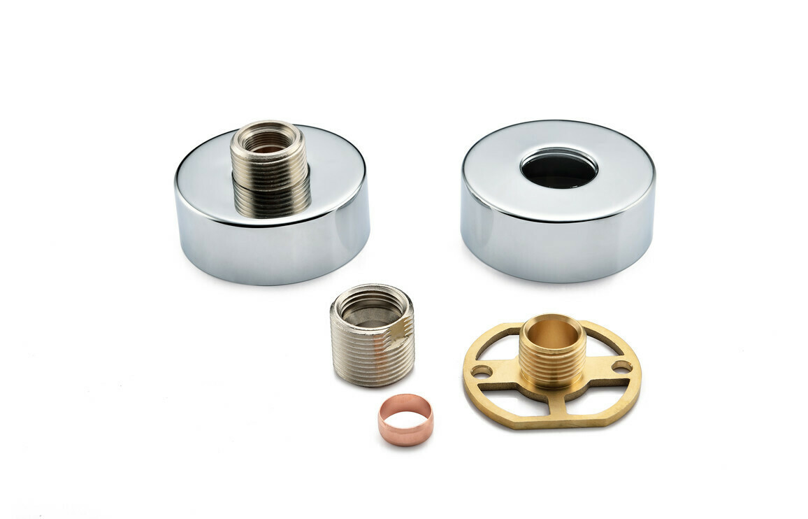 Round Exposed Shower Valve Fast Fitting Kit (Pair)