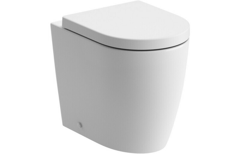 Cilantro Rimless Back To Wall WC & Soft Close Seat