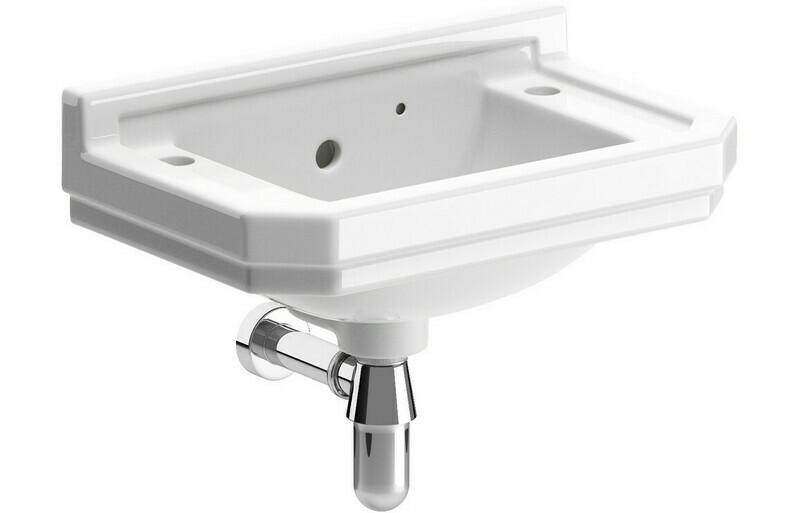 Sherbourne 500x310mm 2TH Cloakroom Basin & Bottle Trap