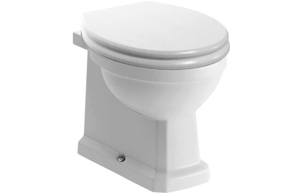 Sherbourne BTW WC & Lucia Satin White Wood Effect Seat