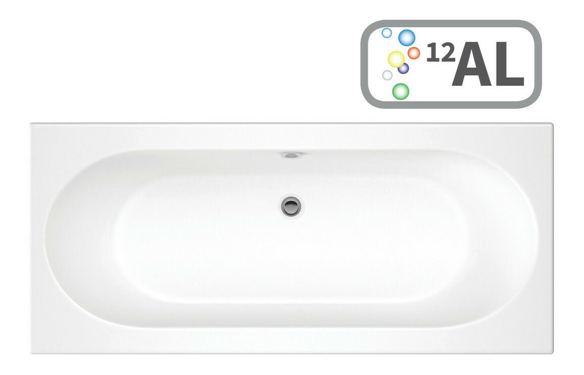Cascade Double End 1600x750 0TH Bath & Airspa System w/LED