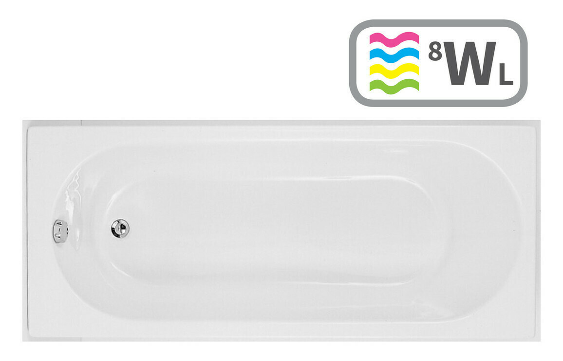 Cascade Single End 1700x700 0TH Bath & Whirlpool System w/LED