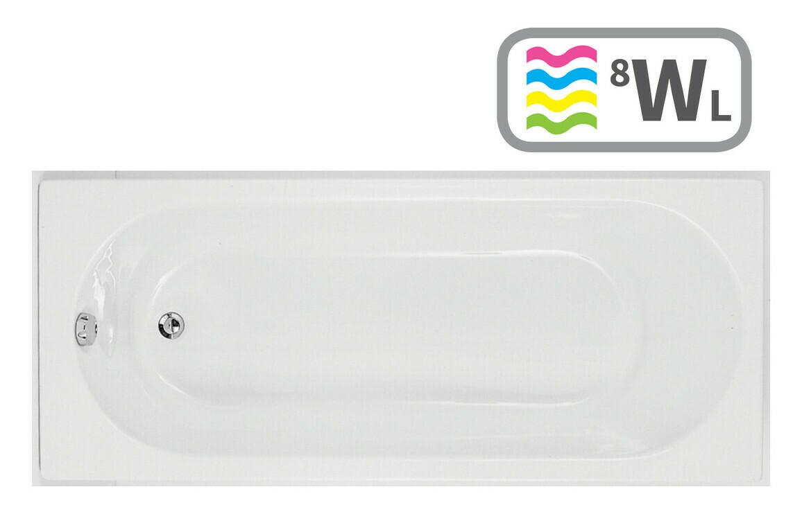 Cascade Single End 1700x750 0TH Bath & Whirlpool System w/LED
