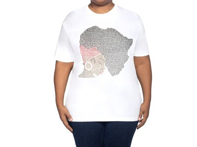 African hair woman shirt