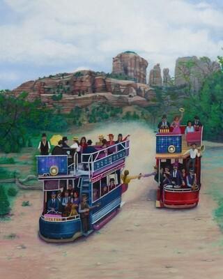 Solar Powered Desert Trolleys