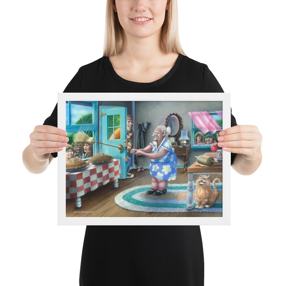 """Grandma's Apple Pie"" Framed Print"