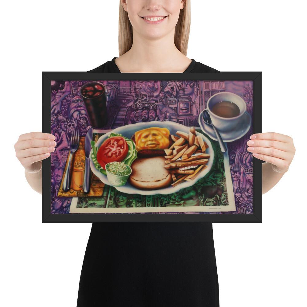 """""""Lunch""""  Framed Print"""