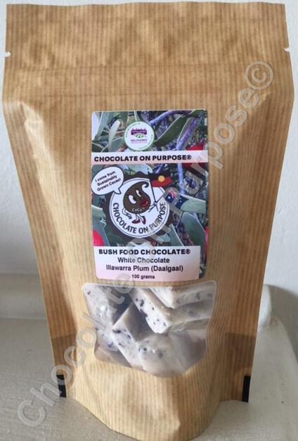 White Chocolate with Illawarra Plum (Daalgaal)