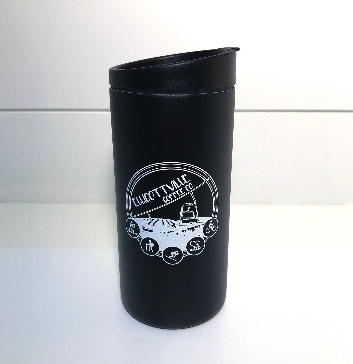 12oz. VI Travel Tumbler Black