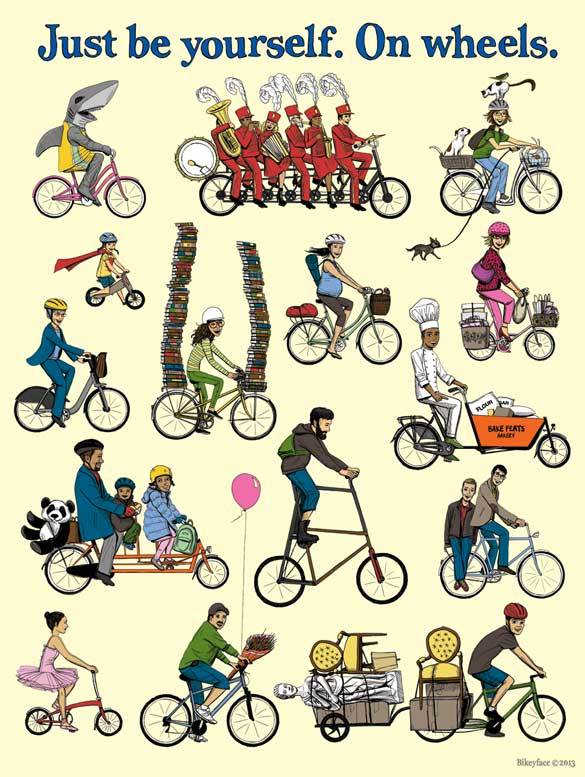 """Just Be Yourself On Wheels 18x24"""" Poster 00001"""