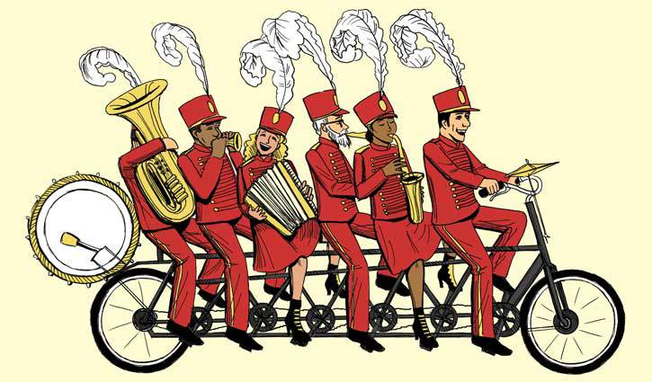 Detail, bicycling band