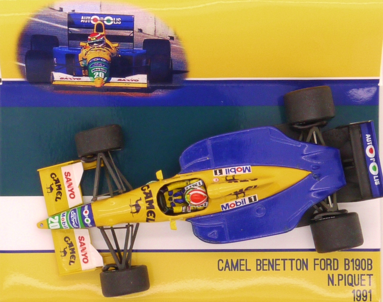 1991 tameo camel benetton ford b190 b n piquet usa gp 1 for Benetton usa online shop