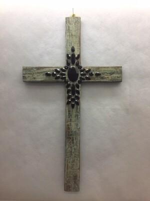 Cross - Wall hanging - Antique look