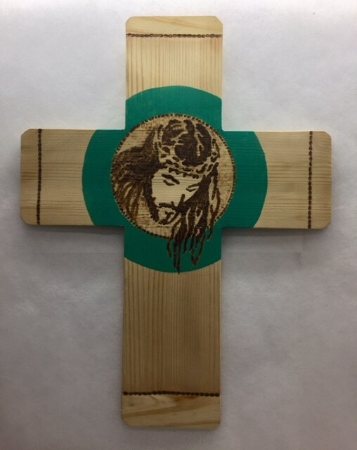 """Cross - wall hanging """" Face of Christ"""""""