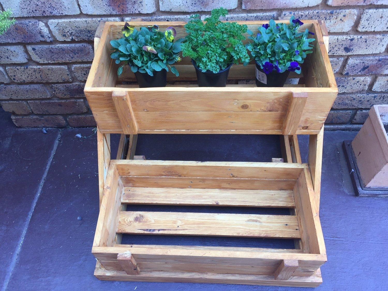 Wooden Planter 2 Tier