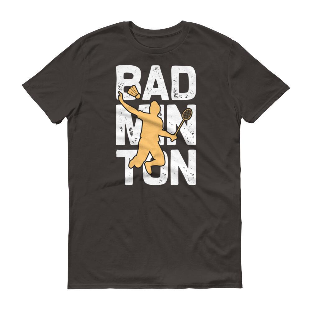 Badminton man jumping Short-Sleeve T-Shirt