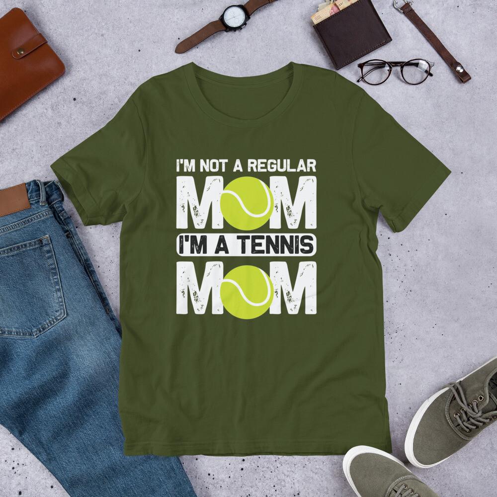 i'm not a regular mom i'm a tennis mom  Short-Sleeve Unisex T-Shirt