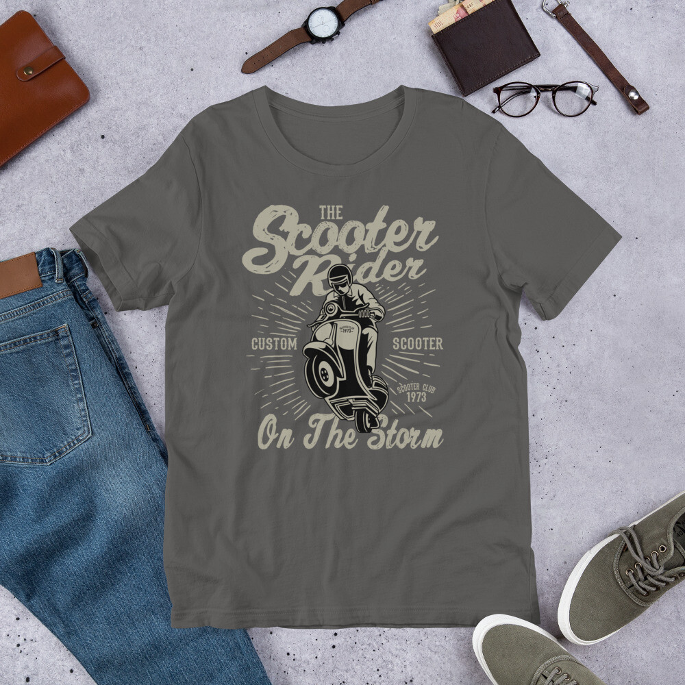 Scooter rider on the storm Short-Sleeve Unisex T-Shirt