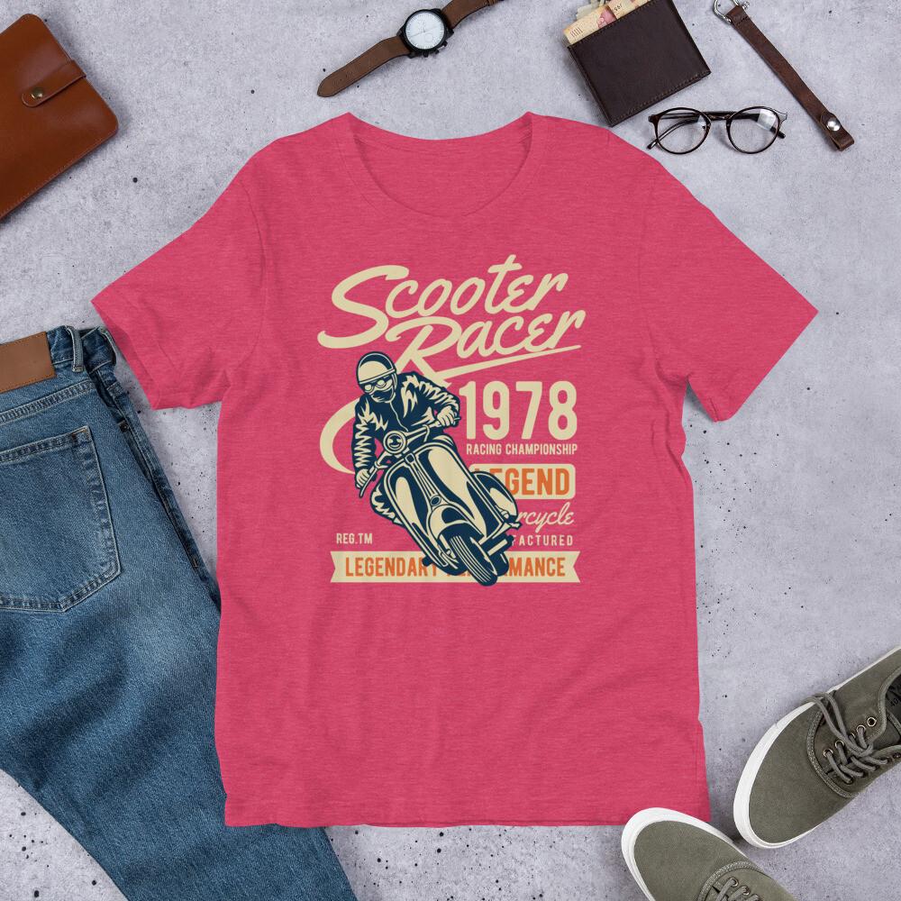 Scooter racer 1978 legend Short-Sleeve Unisex T-Shirt