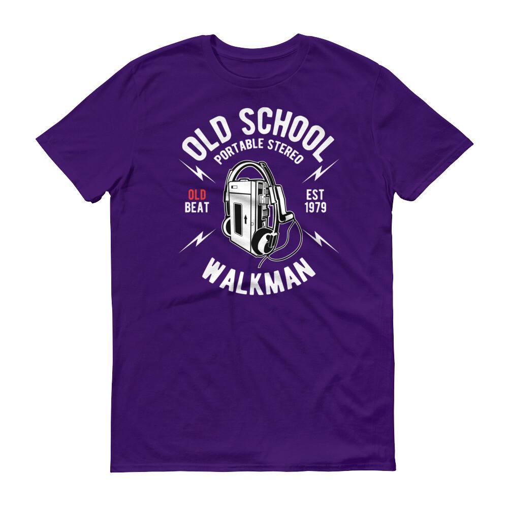Old school portable stero walkman phone music beat Short-Sleeve T-Shirt