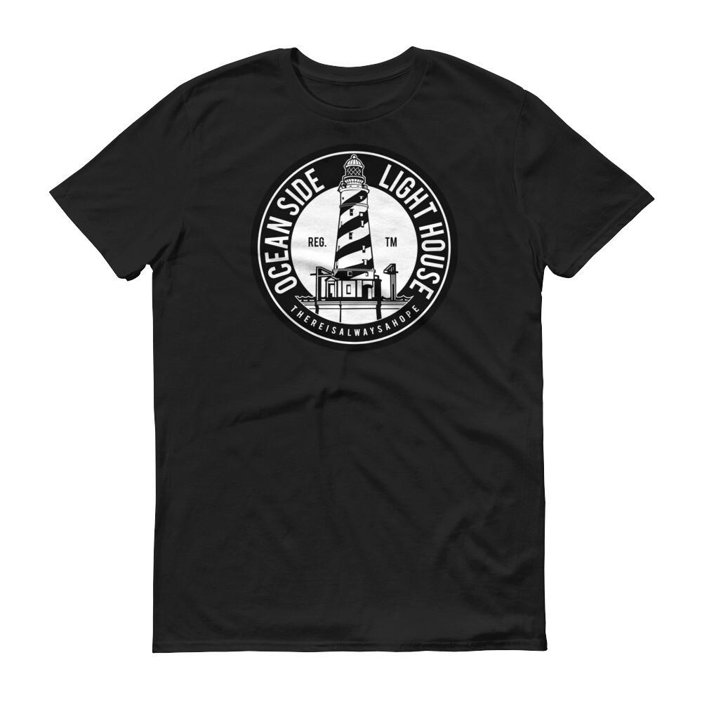 Ocean side light house Short-Sleeve T-Shirt