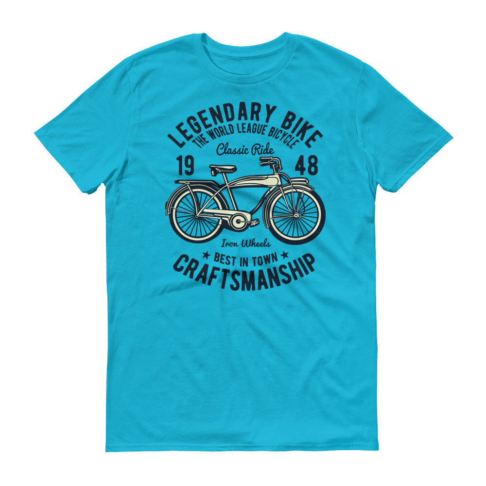 Legendary bike the world league bicycle classic ride crafts manship Short-Sleeve T-Shirt