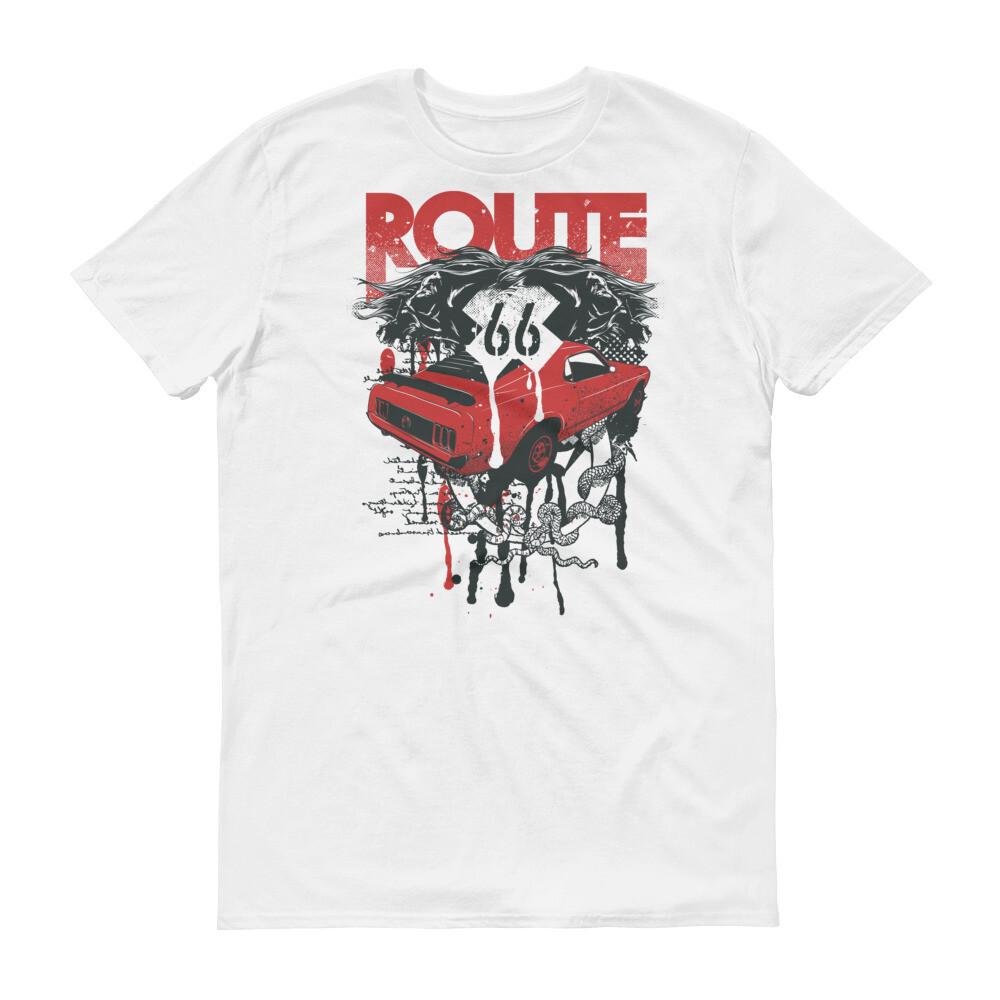 Route 66 car Short-Sleeve T-Shirt