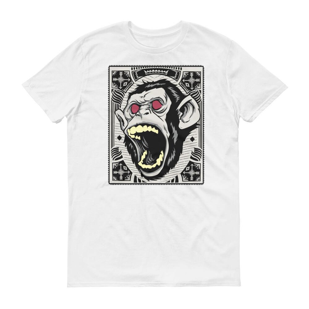 Monster chimp monkey Short-Sleeve T-Shirt
