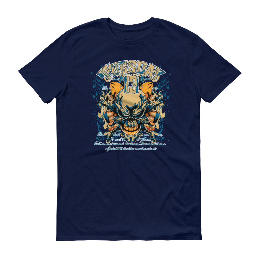 Tuesday 13 skull Short-Sleeve T-Shirt
