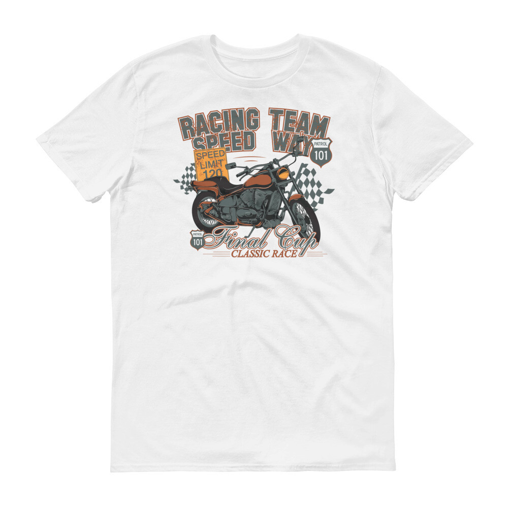 Racing team speed way final cup classical Short-Sleeve T-Shirt