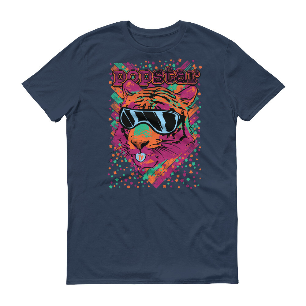 Popstar tiger glass cool Short-Sleeve T-Shirt