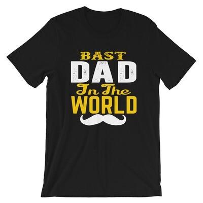 Bast dad in the world bearded Short-Sleeve Unisex T-Shirt
