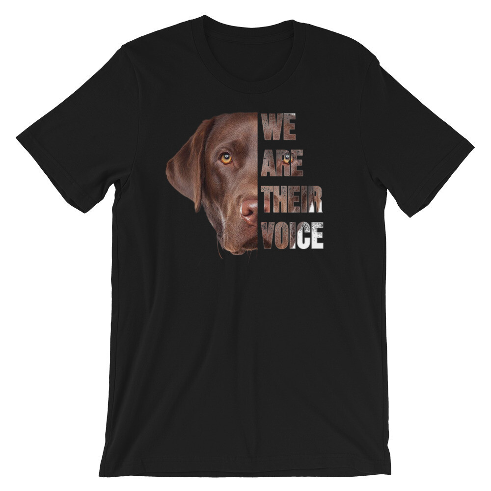 Bulldog we are their voices Short-Sleeve Unisex T-Shirt