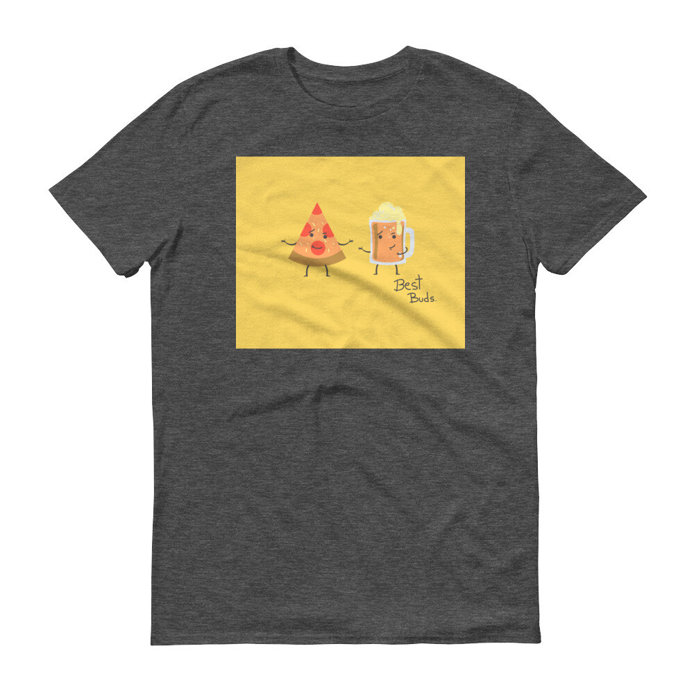Beer and pizza best buds cartoon Short-Sleeve T-Shirt