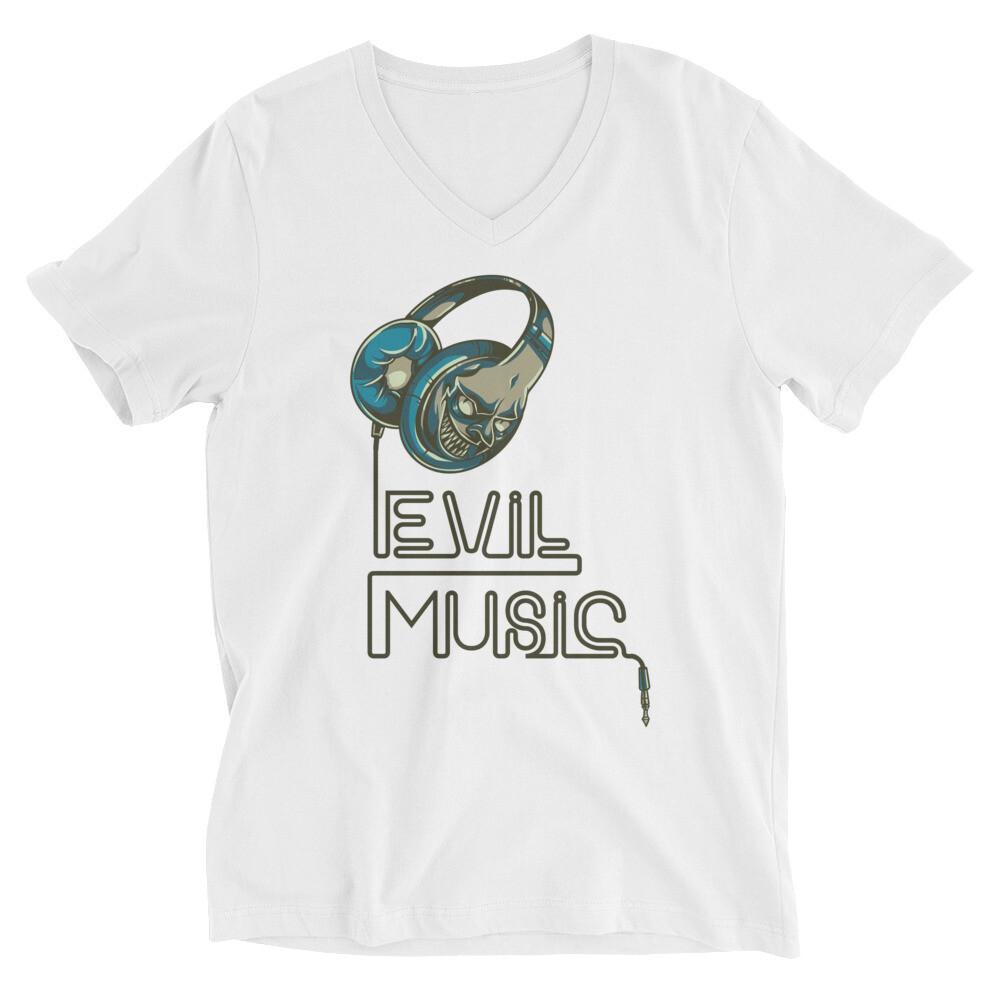 Evil music Unisex Short Sleeve V-Neck T-Shirt