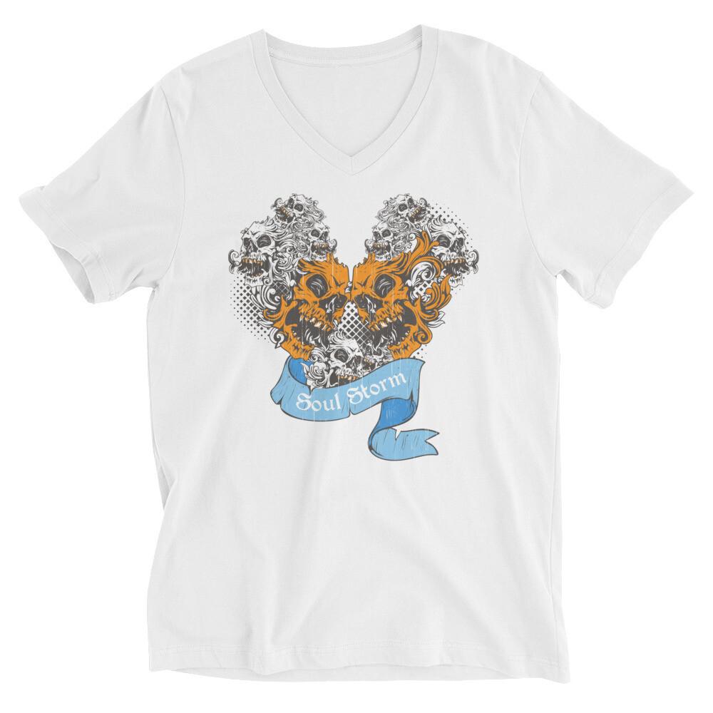 Soul storm dragon skull Unisex Short Sleeve V-Neck T-Shirt