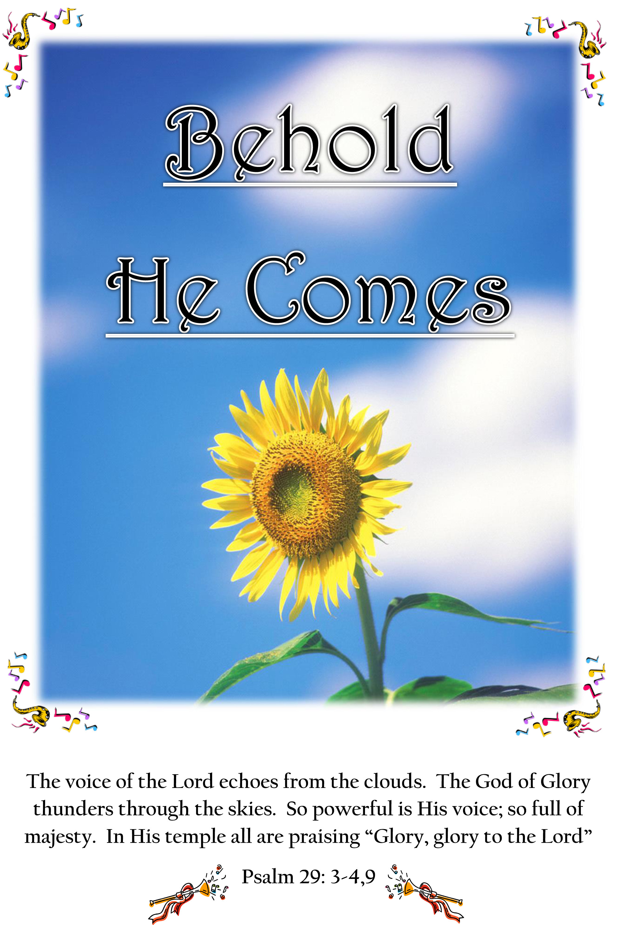 Behold He Comes Praise Booklet (Download) HB100