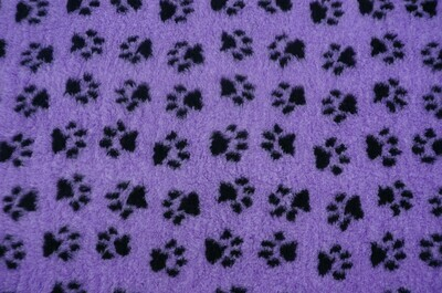 {Single Sheets} : Ultra Premium - Non-Slip Backing : Lilac with Black Paws  - Ref : (6350)